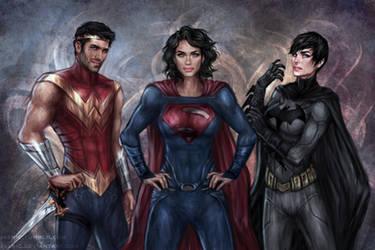 DC Trinity Genderswap by jasric