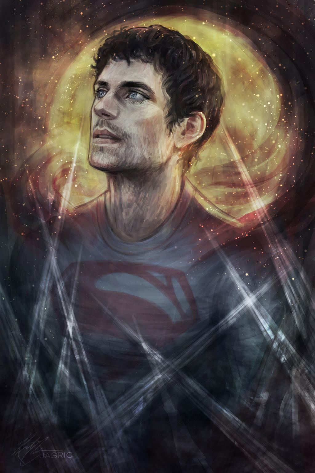 It is a graphic of Selective Clark Kent Drawing