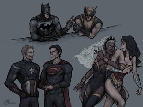 Marvel/DC duos
