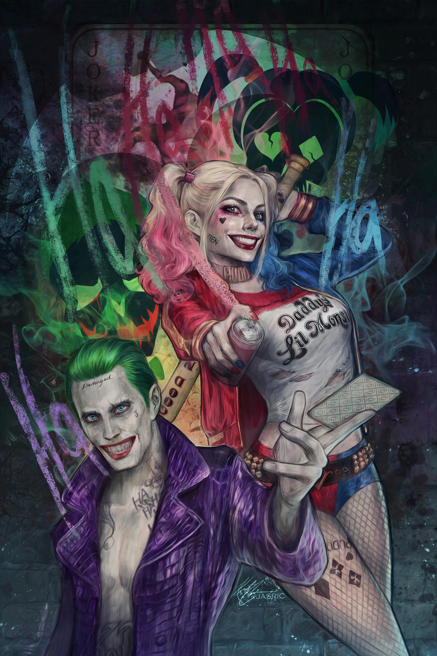 Joker and harley suicide squad by jasric on deviantart for Joker immagini hd