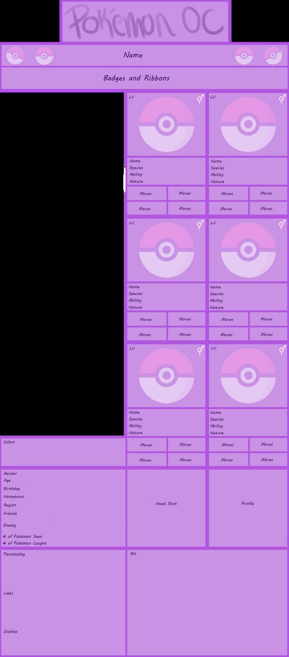 Pokemon oc template beautiful pokemon reference base document.