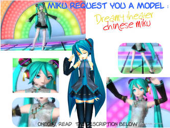MMD - Miku request you a model! Onegai! by Ayato-tan