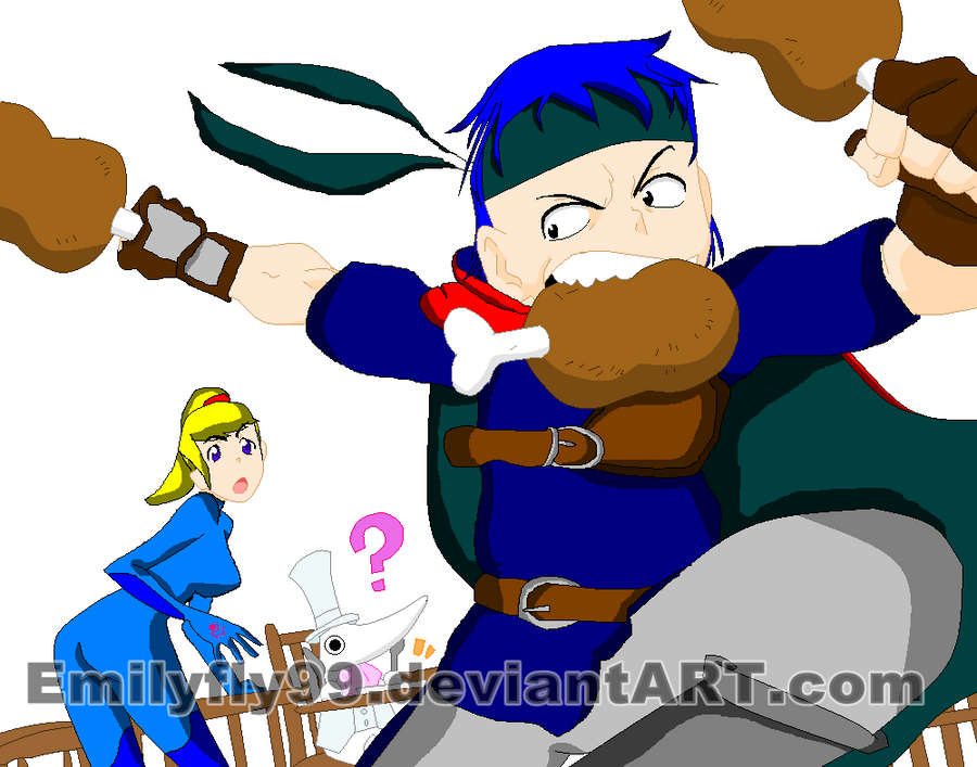 Ike, Samus and Exalibur by Emilyfly99