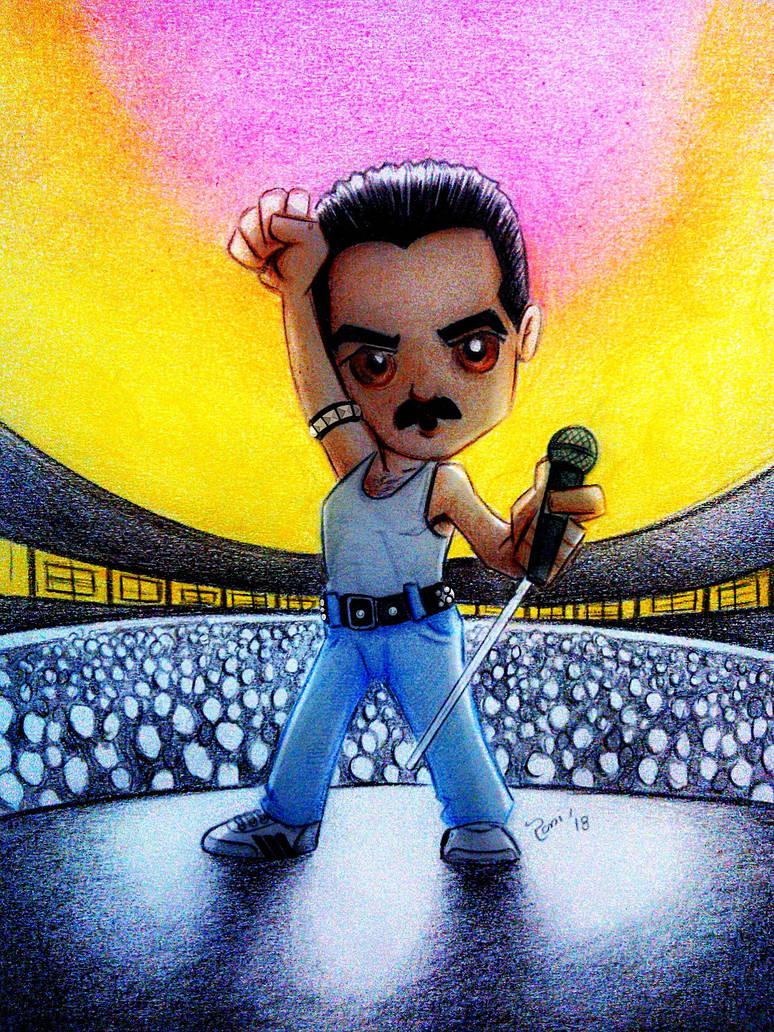 Freddie Malek : A Bohemian Rhapsody Fan Art by RAMI545