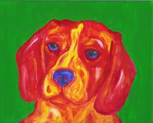 Red Beagle by loyannarocker17