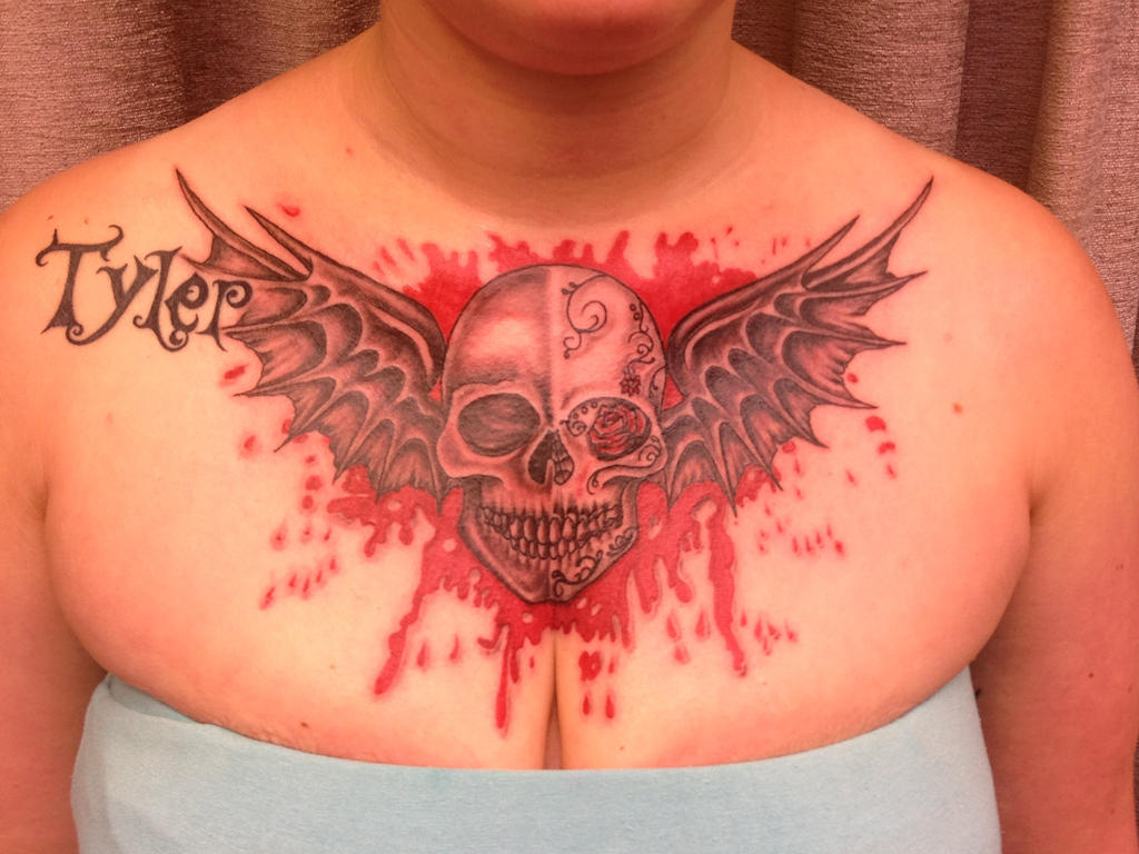186001228 Tattoo Wings Skull By Fortuna15 Deviantart – Dibujos Para Colorear