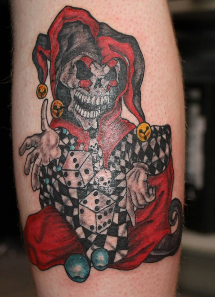 92f55f33b tattoo Jokerskull by fortuna15 on DeviantArt