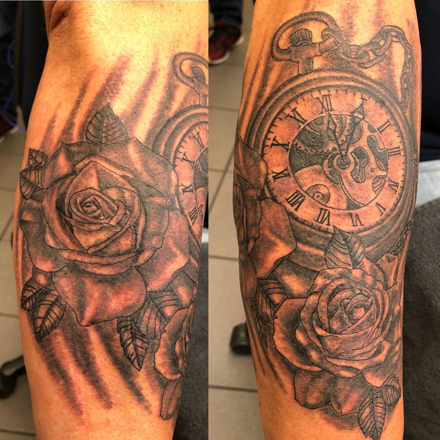 48af4ee83 tattoo clock rosen by fortuna15 on DeviantArt