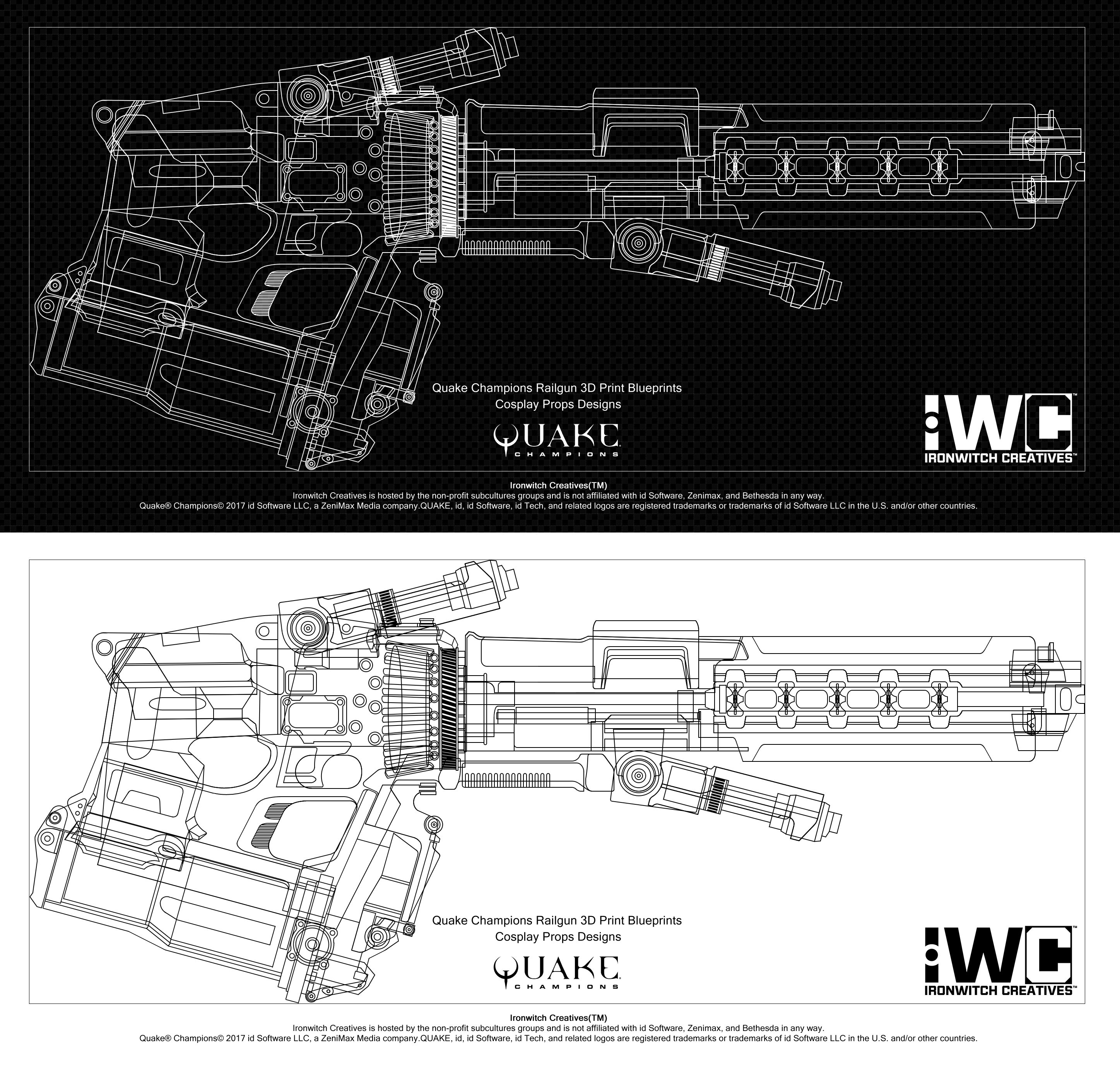 Quake Champions Cosplay: Railgun 3D Blueprints by yangyugi ... on
