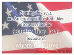 Because of Whom They Love...