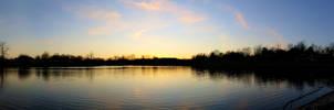 Sunset Lake Panorama