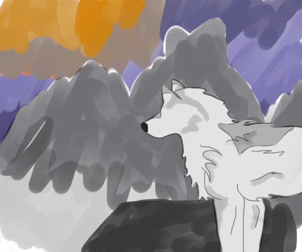 Wolf Sunrise by Zykiel