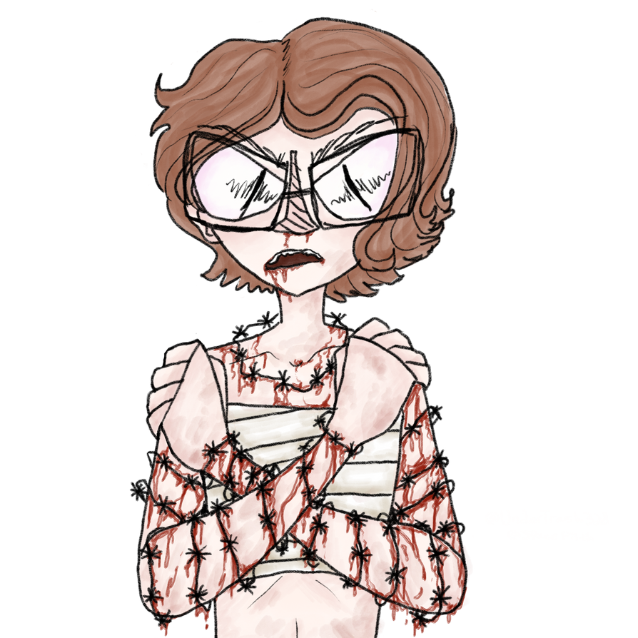 Goretober day 1: Barbed wires by UnderTrash328