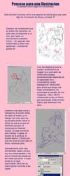 Ilustration work process by bokuman