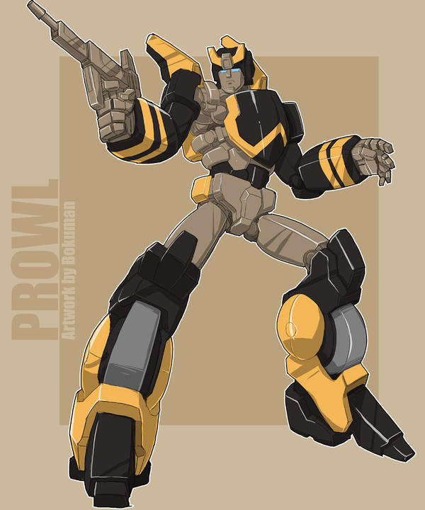 Prowl Animated G1 color by bokumanBulkhead Transformers G1