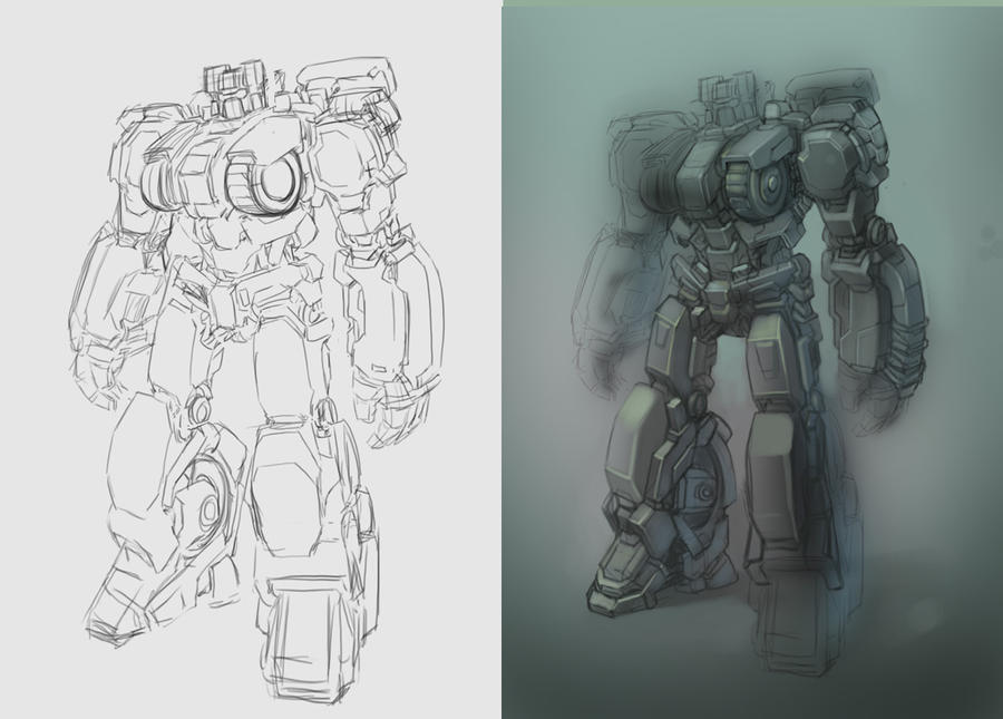 Transformers Sketch WFC style by bokuman
