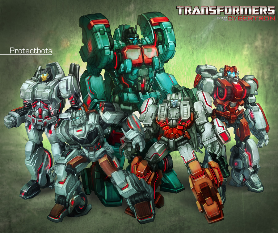 Transformers Protectobots WFC style by bokuman