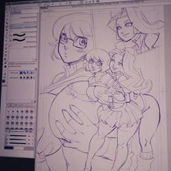 Working on a secret project by bokuman