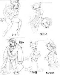 Sketchs Characters by bokuman