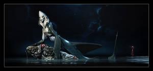 shark mermaid by ziopredy