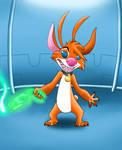experiment john fox 725 (SpeedPaint) by LittleFoxPrince
