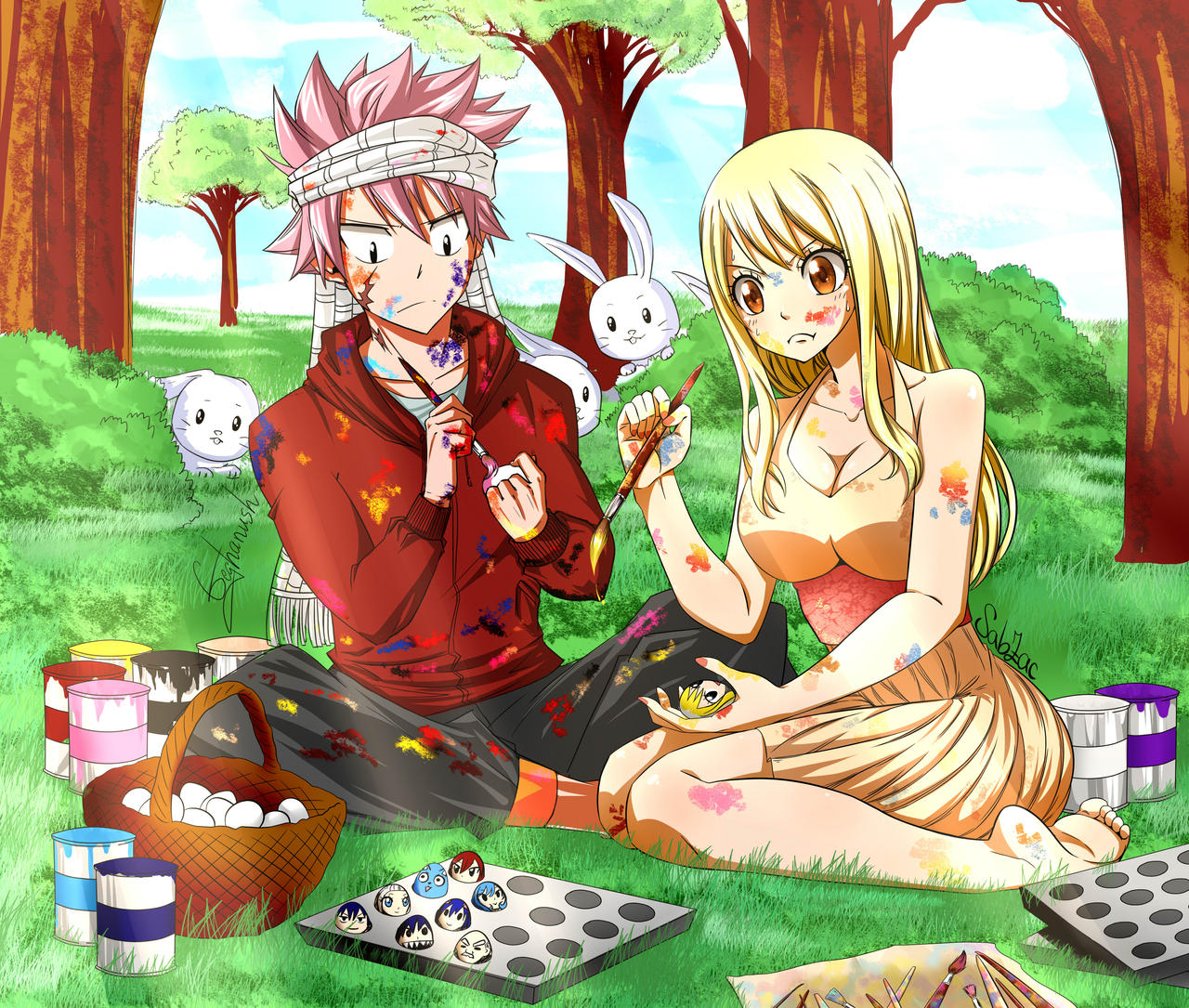 Nalu Easter Collab With Geghanush By SabZac On DeviantArt