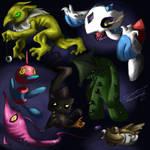 creepy pokemon doodles...