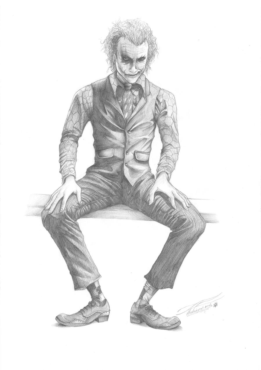 Pictures Of Gangster Joker Drawings In Pencil Rock Cafe