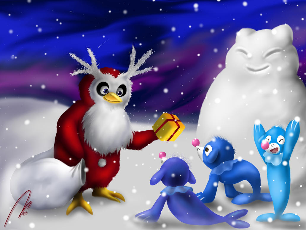 delibird uses present by blackwinged neotu on deviantart