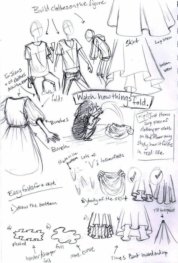 A Crappy How-To for How I Draw Clothes by MissBillyF