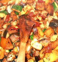 roasted vegetable by heyla-stock