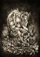 Troll and Huldra by AldhisslaSS