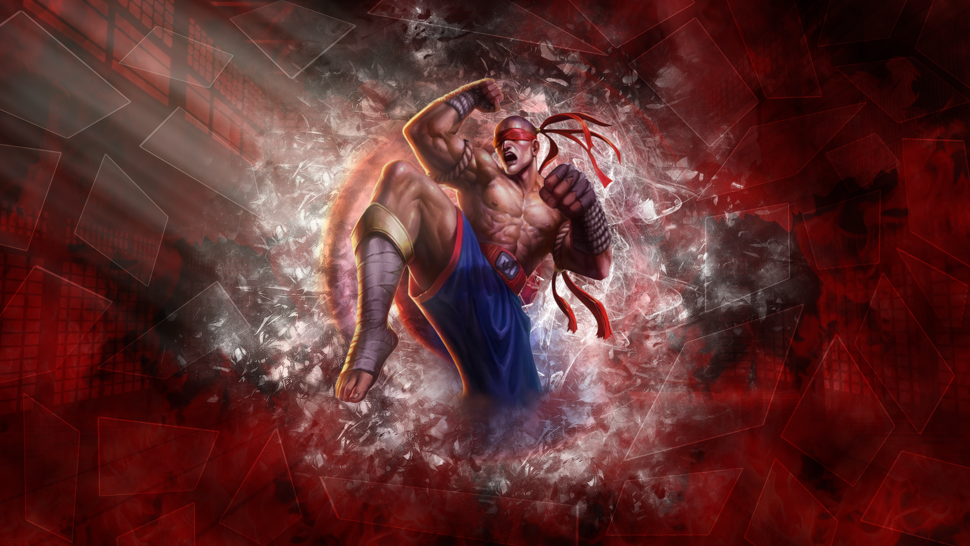 Muay Thai Lee Sin Wallpaper 1920x1080 By Berky10 On Deviantart