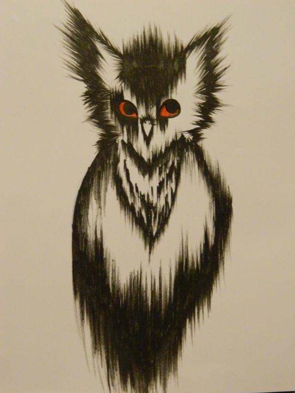 Trash Polka Owl by CheekyPockyPro