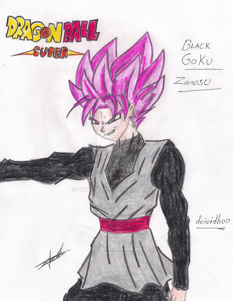 Black Goku SSJ Rose1 By deividboo by dibujarTe21