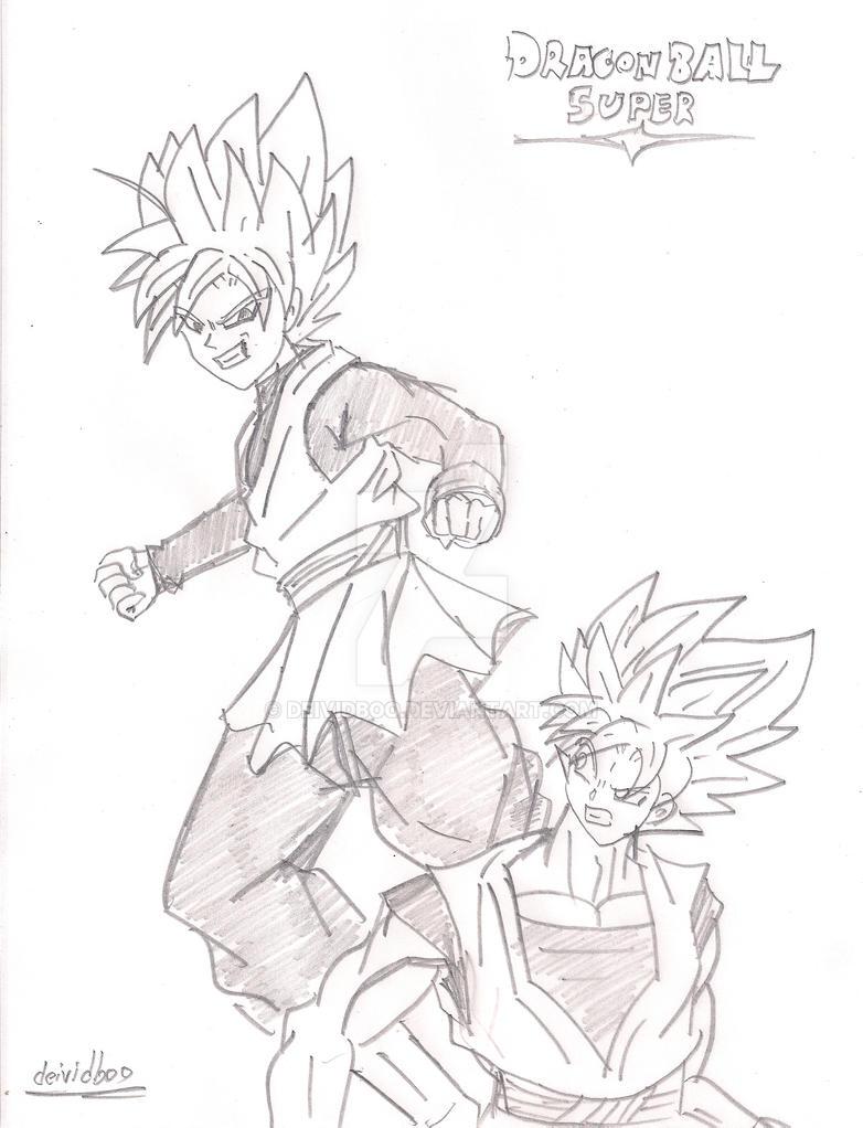 Black and Goku DBS By deividboo by dibujarTe21