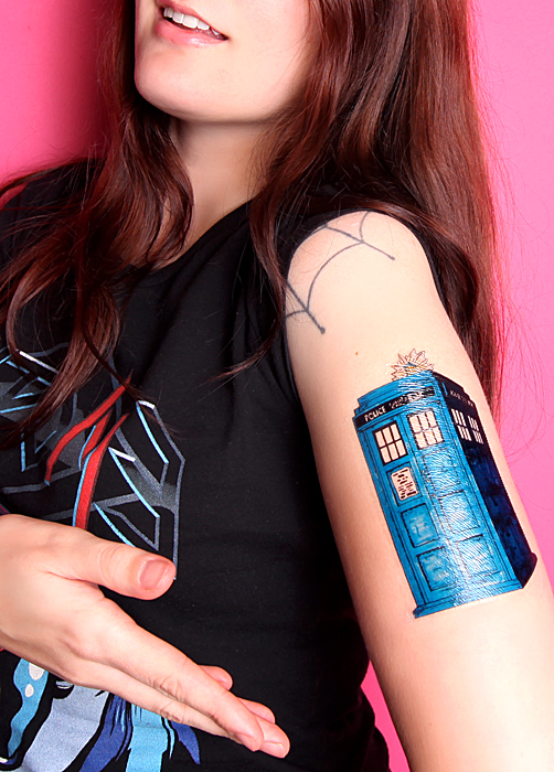 Small Doctor Who Tattoo: Dr Who Temporary Tattoo Doctor Who Body Dress Art By
