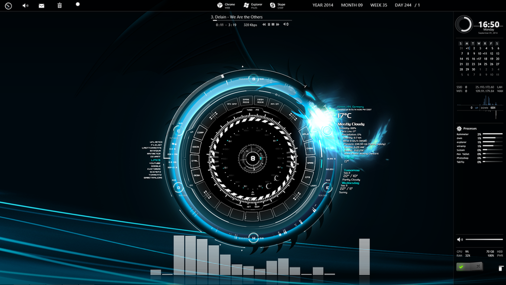 Rainmeter desktop by conorsta on deviantart for Deviantart rainmeter