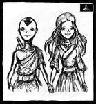 Katara and Aang by TheDarkestKnight1939