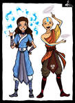 Katara and the Avatar by TheDarkestKnight1939