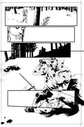 Pencil and ink The Hunters page 16