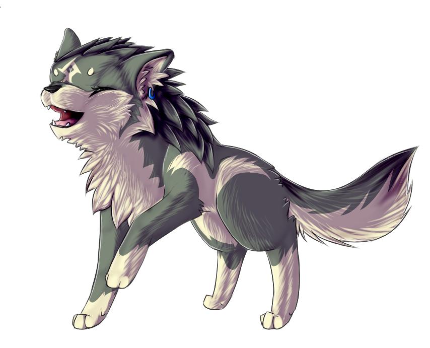 Картинки волка чиби