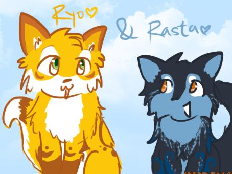 Ryo and Rasta by DreamingWishWing