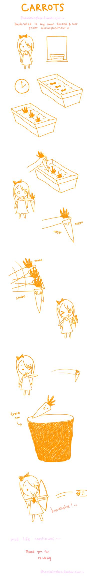 carrots by DreamingWishWing