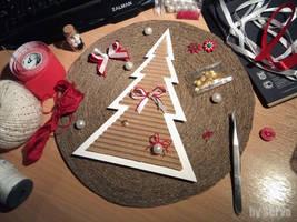 Christmas panno, step 2
