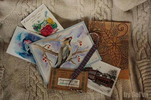 Postcard 'Bohemian waxwing'