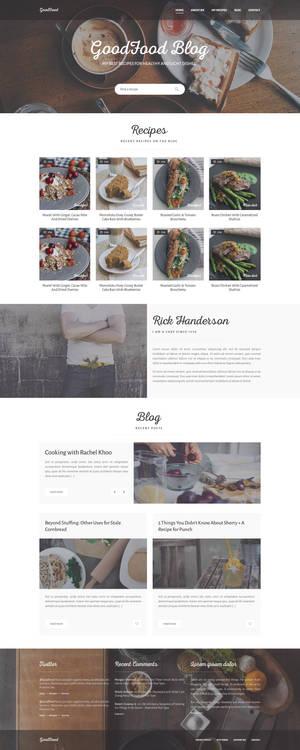 GoodFood - Blog PSD template