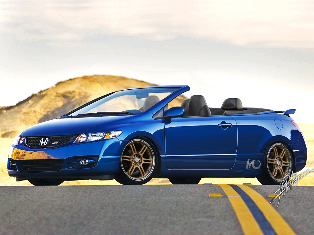 Honda Civic Si Convertible By Montch On Deviantart
