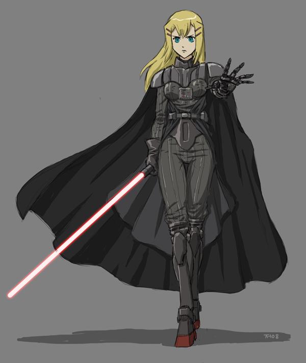 Anime girl as Darth Vader