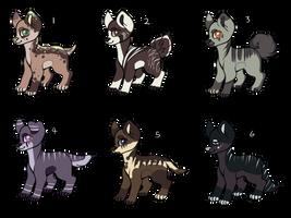 Doggo adoptables! OPEN by KiwiGecko
